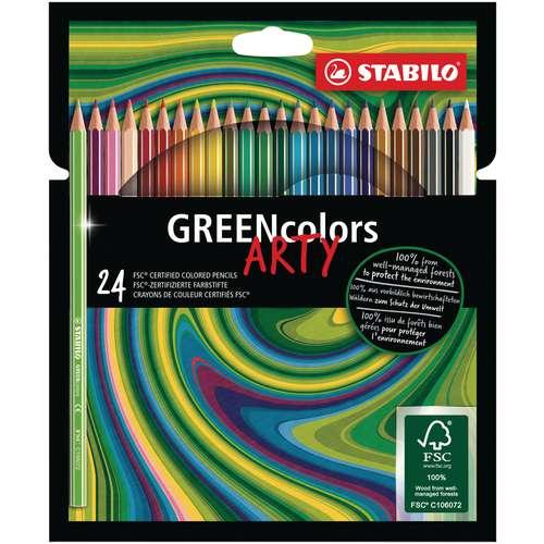 Sets de crayons Stabilo® Green colors Arty