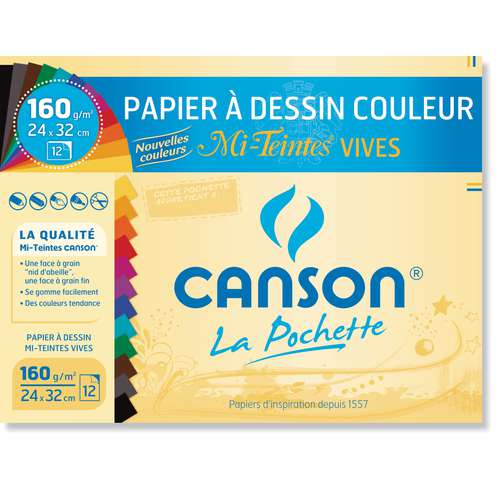 Pochette mi-teintes Canson
