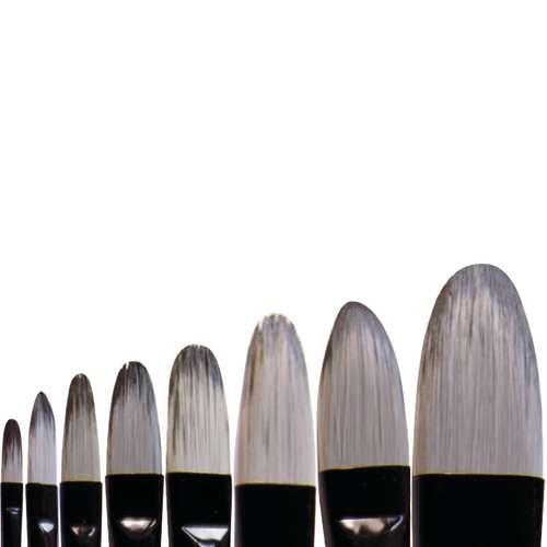 Brosses Artists' Acrylic pointe usée bombée
