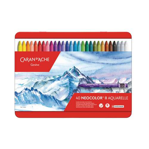 Coffret de craies aquarellables Neocolor II